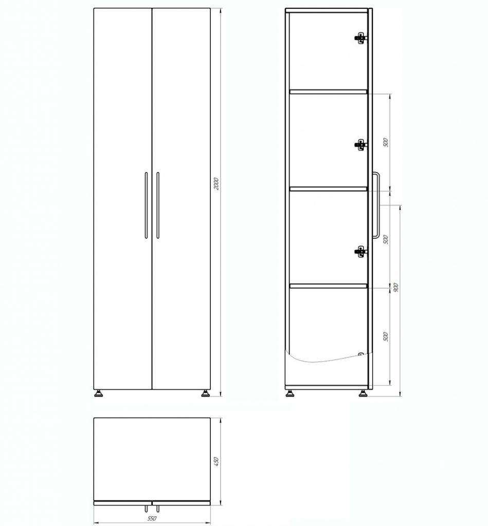 Шкаф для переходной и технологической одежды